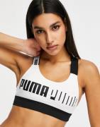 Puma - Training - Hvid sports-BH til mid impact-træning