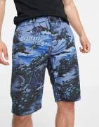 Tommy Hilfiger - Hampton - Shorts med gennemgående Hawaii-print-Marineblå