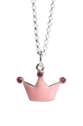 Halskæde Rosa Prinsessekrone
