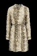 Kjole viAmella L/S Dress, slangeskindsmønstret