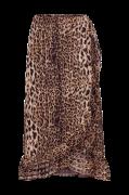 Flæsenederdel Amaze Skirt, leopardmønstret