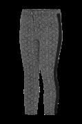 Smalle, mønstrede bukser med bånd i siden