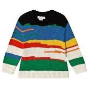 Stella McCartney Kids Stripe Knit Sweater Multicolor 2 years