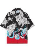 Prada - Printed Poplin Shirt - Black