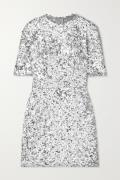 Dolce & Gabbana - Sequined Stretch-tulle Mini Dress - Silver