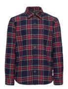 Oxford Check Shirt L/S Skjorte Blå Tommy Hilfiger