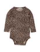 Leo Body Ls Kids Newborn Long-sleeved Brun MarMar Cph